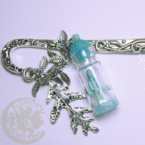 Blue glow fairy bookmark