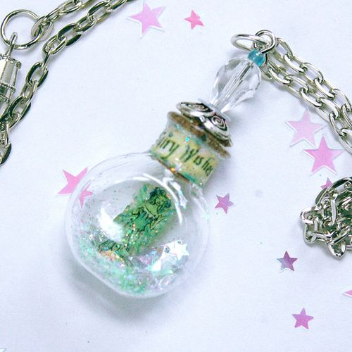 absinthe fairy bottle pendant